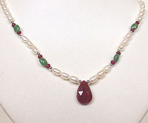 Wedding Vows -Precious Stone Necklace