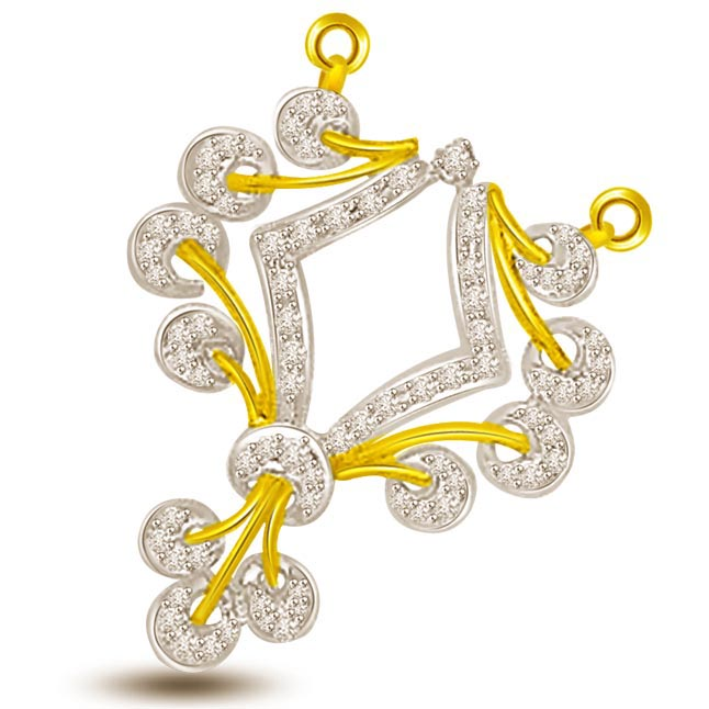 Wheels Of Dharma Diamond Gold Mangalsutra Pendants