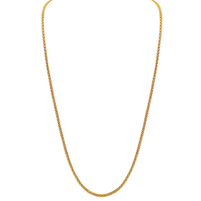 White Real Freshwater Pearl Gold Plated pendant & 22 IN Chain (SDS247)