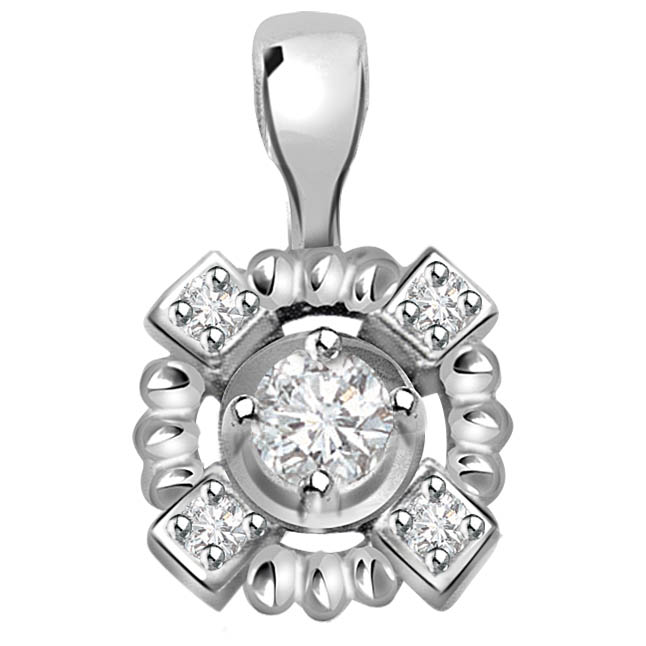 Whiteberry Civilization 0.15 ct Diamond White Gold Pendants P318