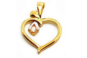 Wild Flower Heart Shaped Diamond Pendants