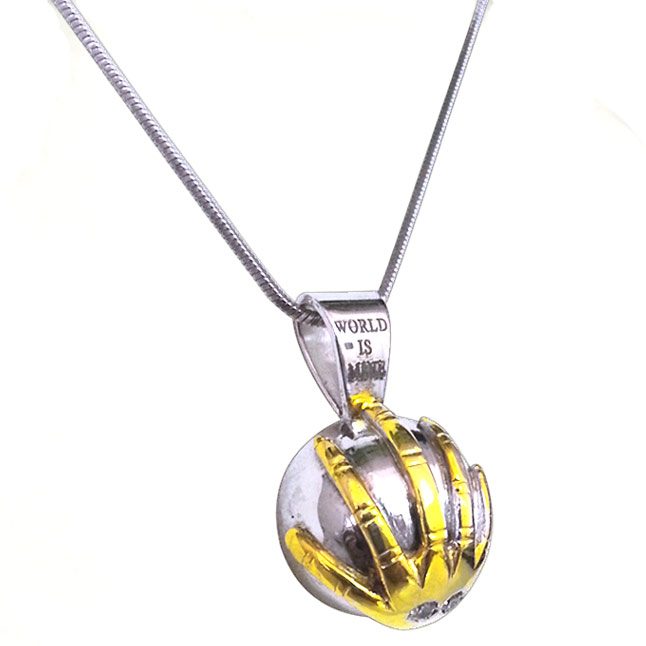 World in Your H -Diamond & Silver Pendants -Sport Collection