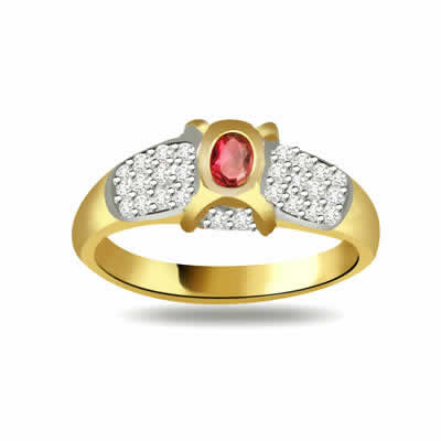 World of Dazzling Desire 0.30ct Diamond & Ruby rings SDR1024