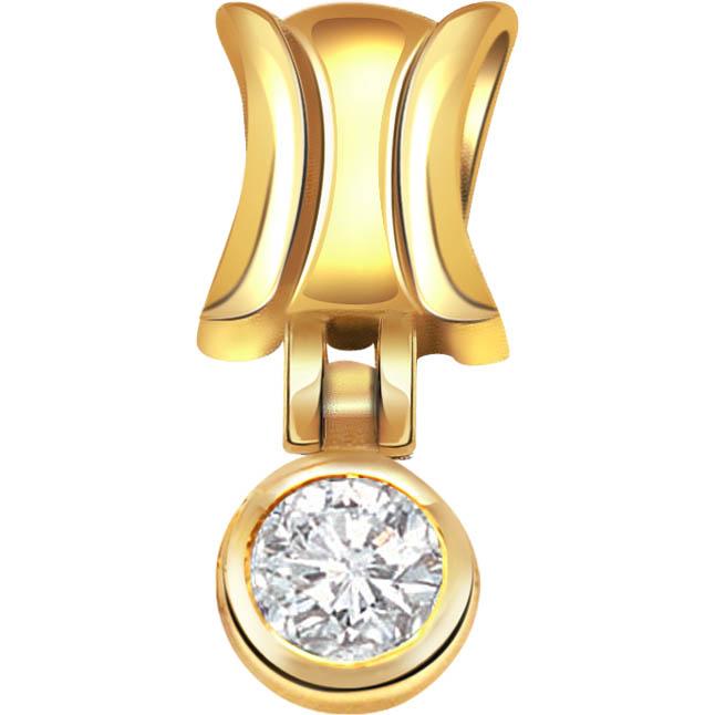 Yellow Delight 0.07ct Diamond Solitaire Pendants -Solitaire
