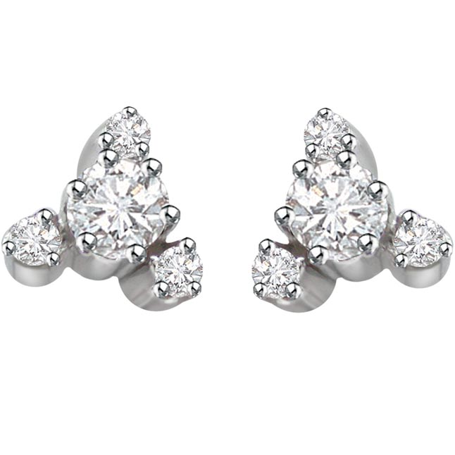 You're gorgeous -Diamond Earrings -White Rhodium