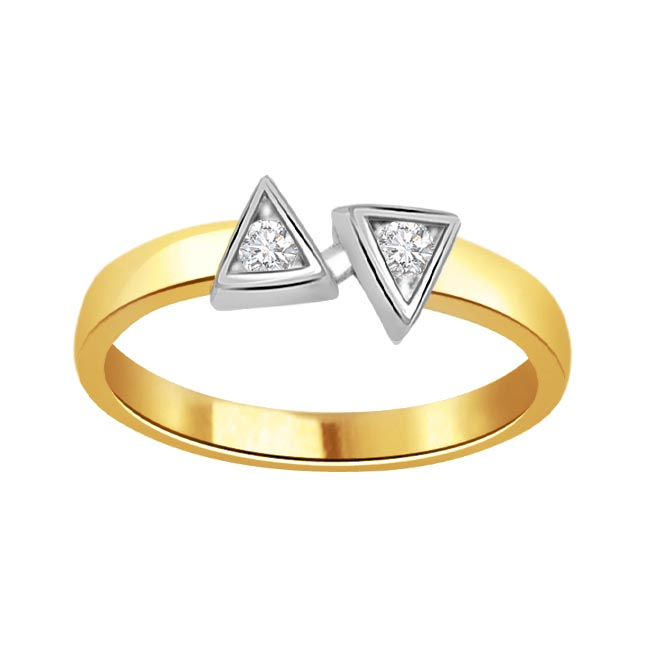 You & Me 0.40 ct Diamond Two -tone rings -White Yellow Gold rings