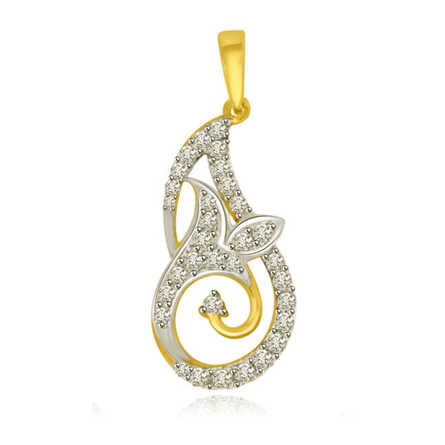 You are my Hearts Desire Two Tone Gold & Diamond Pendants