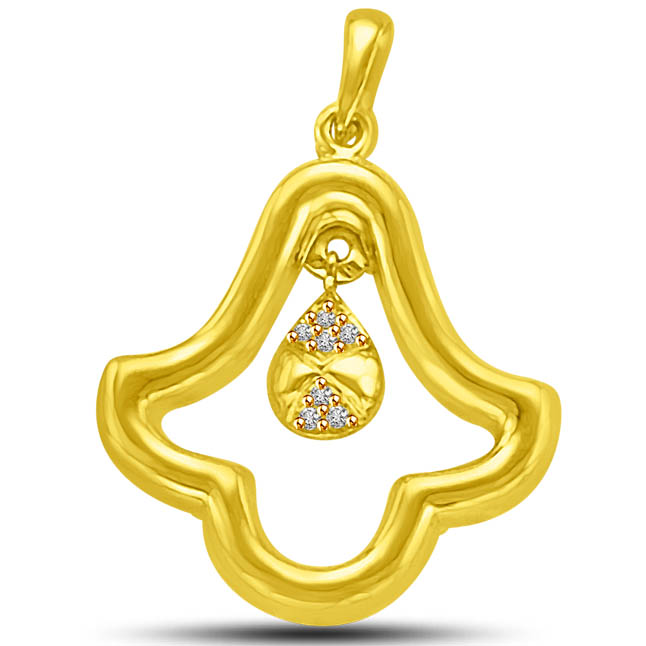 You rings Bells of Love in my Heart Diamond & Gold Pendants -Designer Pendants