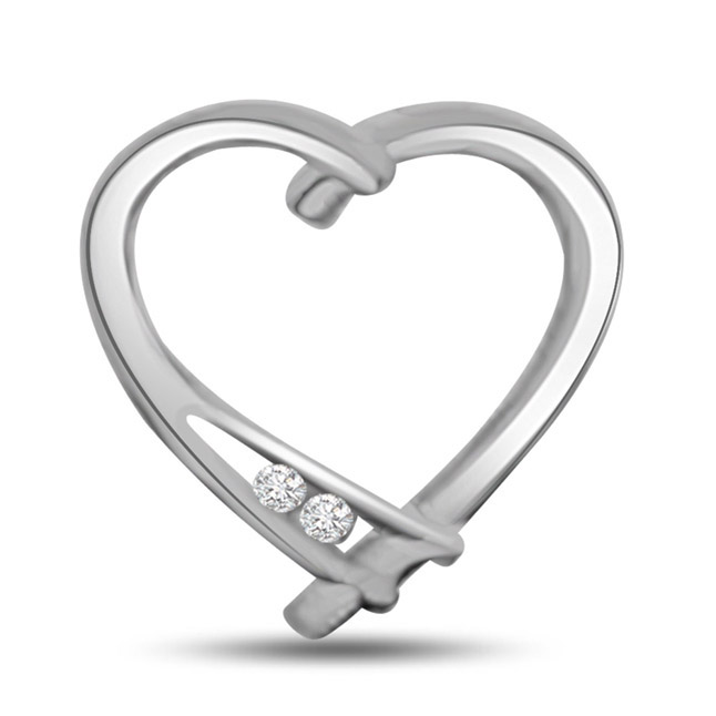You Take My Breadth Away…Diamond Heart Pendants