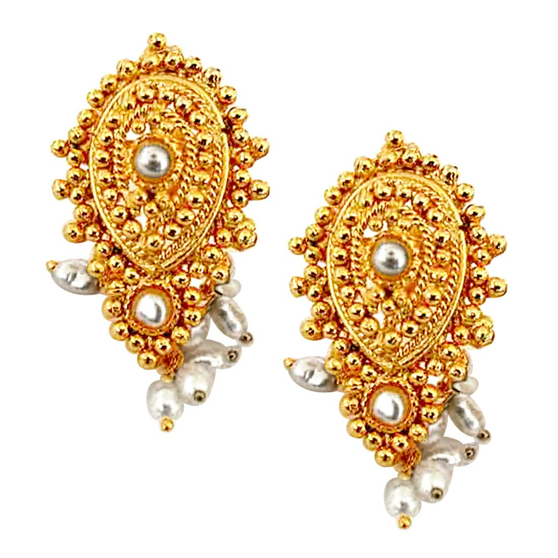 Temple Design Earrings