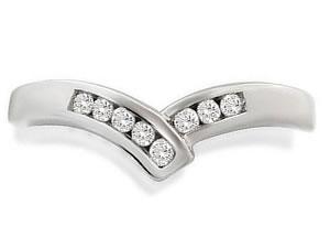Designer White Gold Diamond Rings, Wide Bands