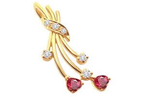 Diamond Ruby Pendants