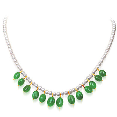 Emerald Pearl Necklaces