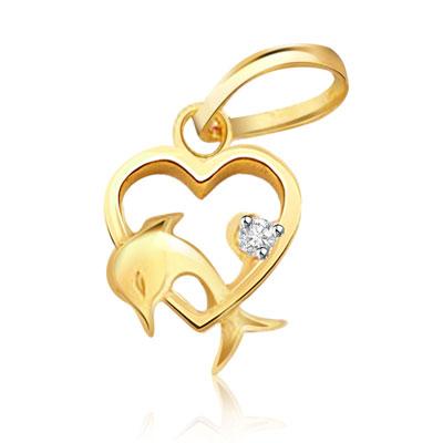 Heart Shaped Diamond Pendants