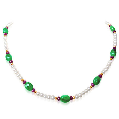 Ruby Emerald Necklaces