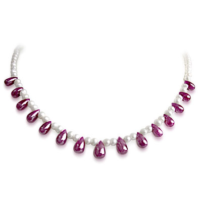 Ruby Pearl Necklaces