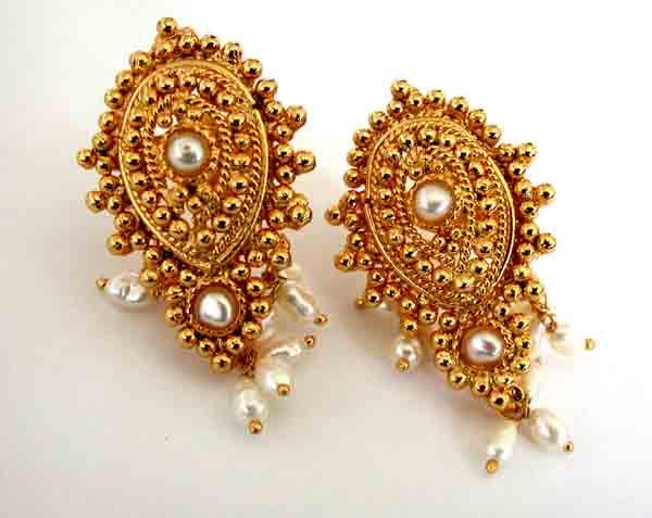 Temple Design Earrings