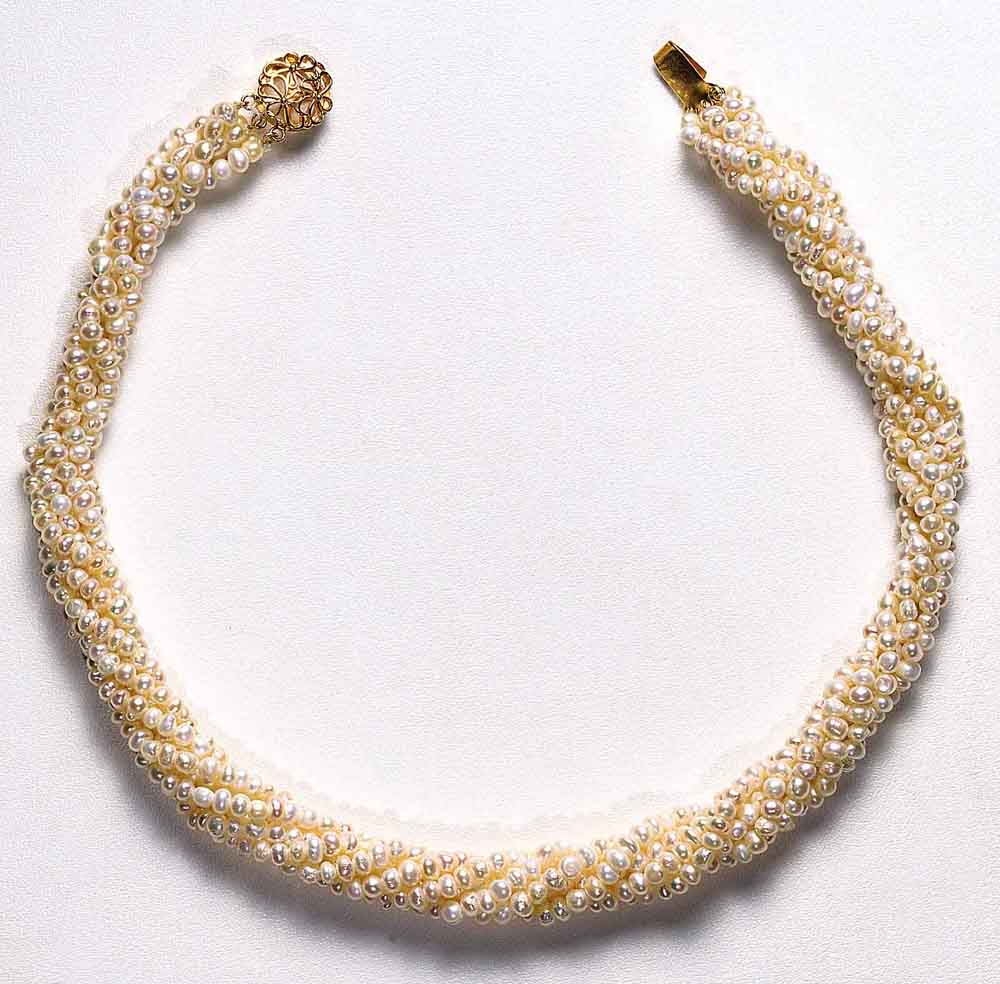 Twisted Rice Pearl Necklaces