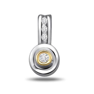 Two tone Diamond Pendants