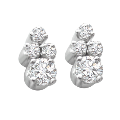 White Rhodium Earrings