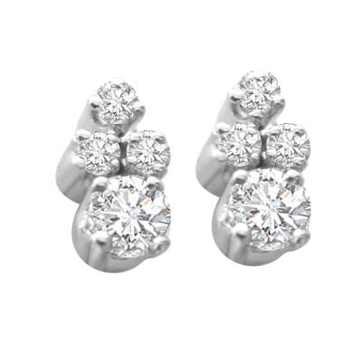 White Rhodium Earrings
