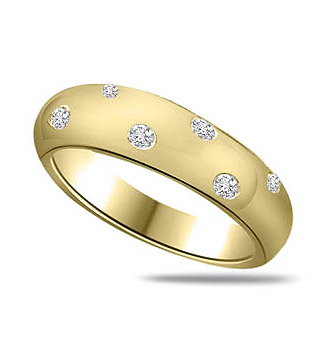 Diamond Wide Band Rings